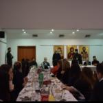 Κατά την υποδοχή μας, από τον Βικάριο του Πατριαρχ. Σερβίας Μητροπολίτη Τοπλίτσης κ. Αρσένιο, παρουσία του εξοχ. Πρέσβη της Ελλάδας κ. Ηλία Ηλιάδη